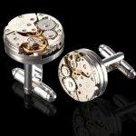 Butoni WATCH otel Stainless Steel cu mechanism de ceas automat