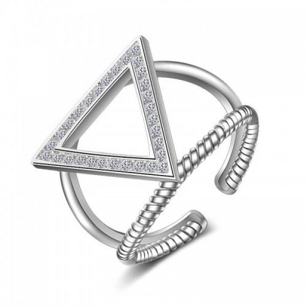 Inel argint Kelan Triangle