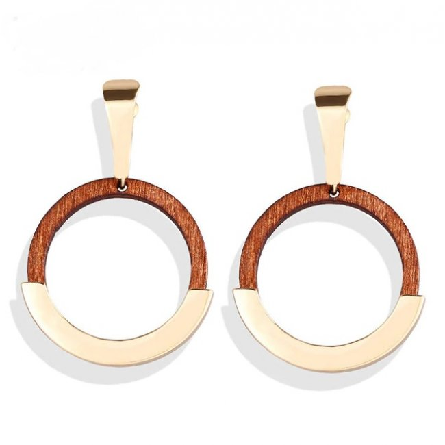 14k gold plated Circle of Life earrings