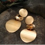 14k 3 Goldees gold plated women's earrings
