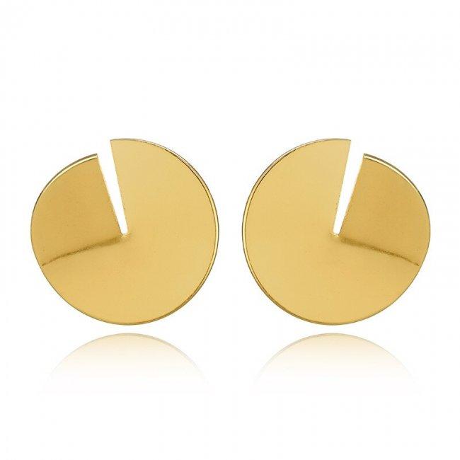 Cercei placati cu aur 14k Versace Style