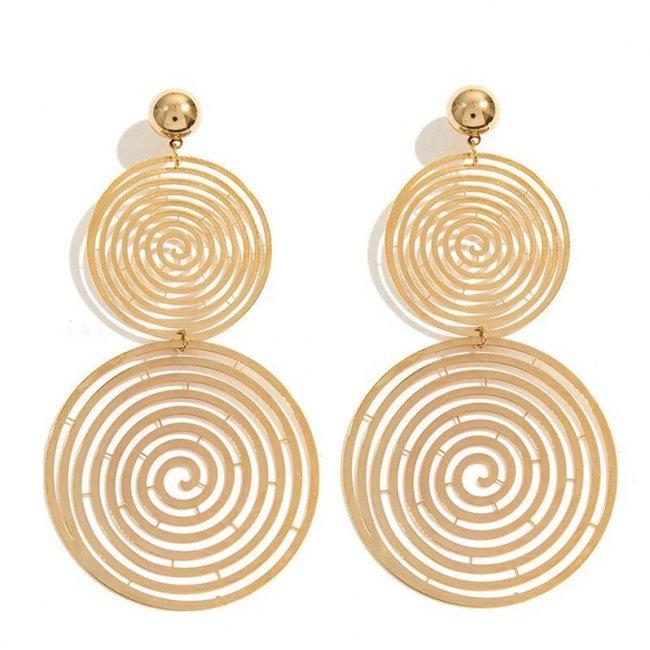 Cercei placati cu aur 14k Paris Circle