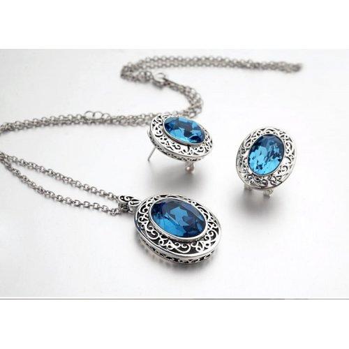 Set Blue Madame Elemente Swarovski