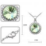 Set argint cu Cristale Swarovski Green Lady