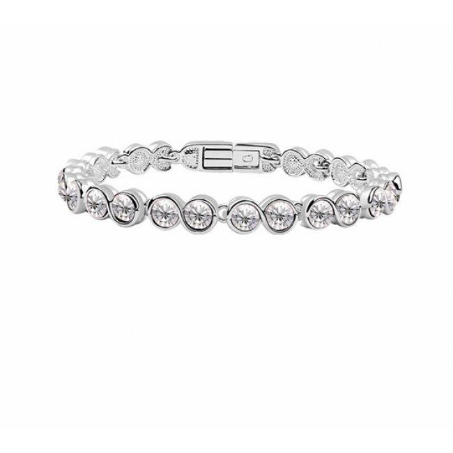 Silver bracelet with large crystals silver swarovski elements
