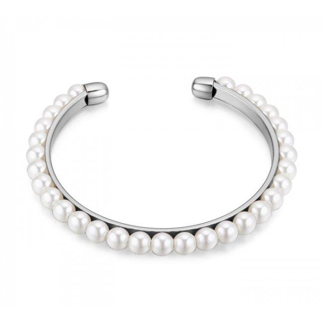 Women's silver pearl mystery bracelet