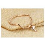 14k gold plated bracelet women dolphin gold model
