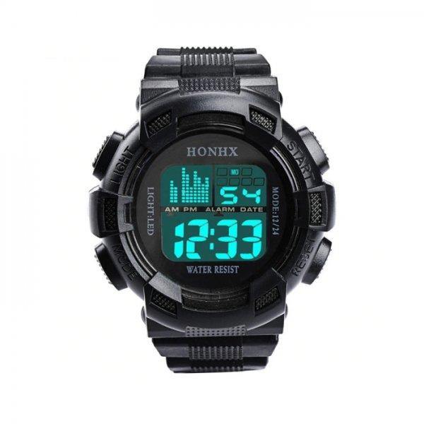 Ceas barbati Led Digital Clock Black