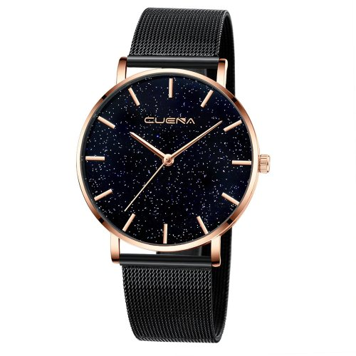 Ceas femei star sky diamond black gold