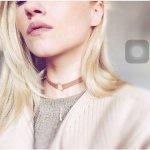Colier gat chocker femei trendy gold