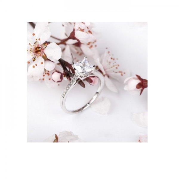 Inel  argint cu elemente swarovski diamond solitaire