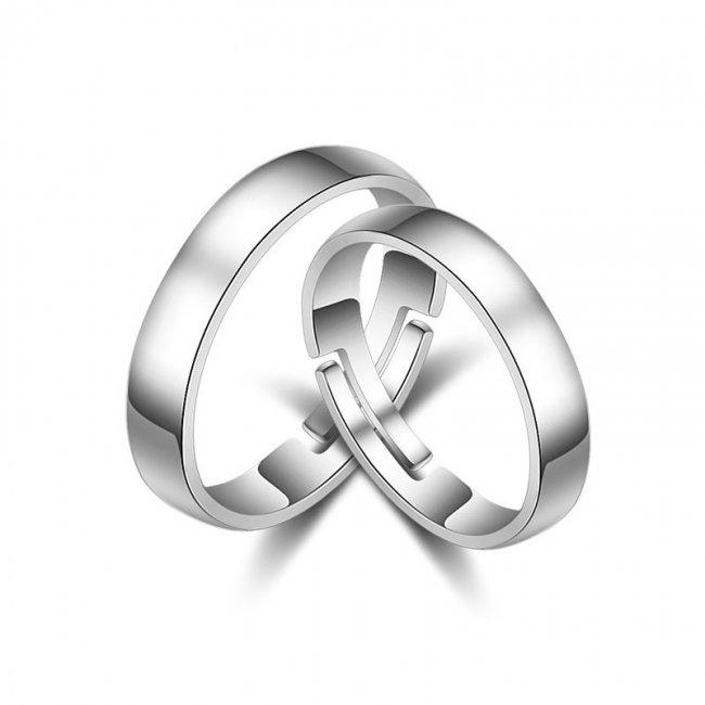 Inel argint cuplu model Simplicity