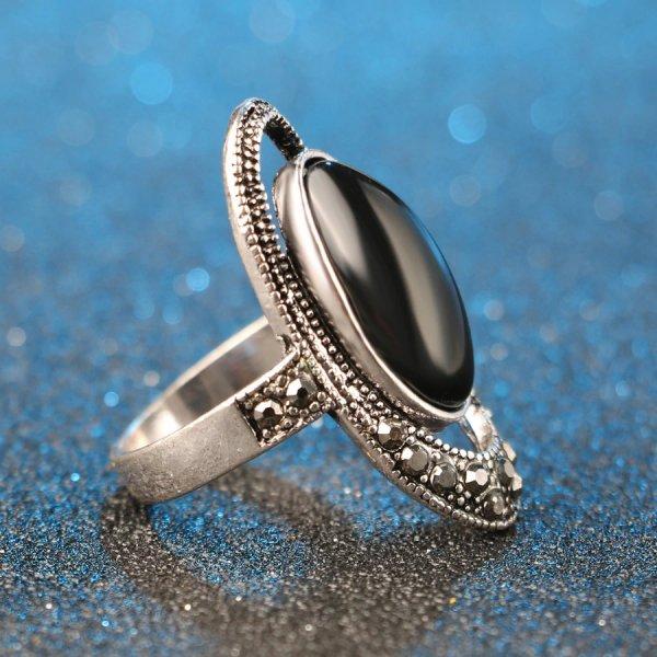 Inel argint onix