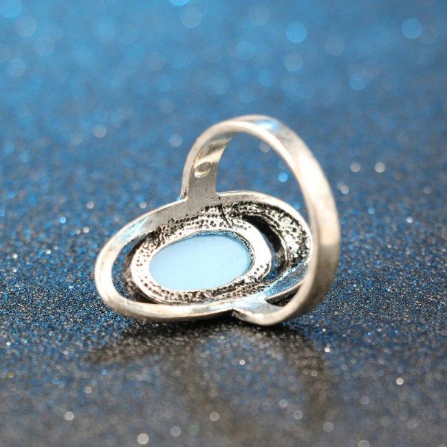Inel argint turcuaz