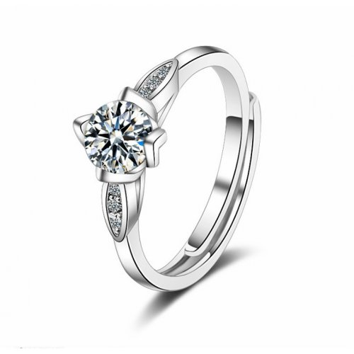 Inel logodna argint femei cu Cristale SW Cristal Eternity regalbil