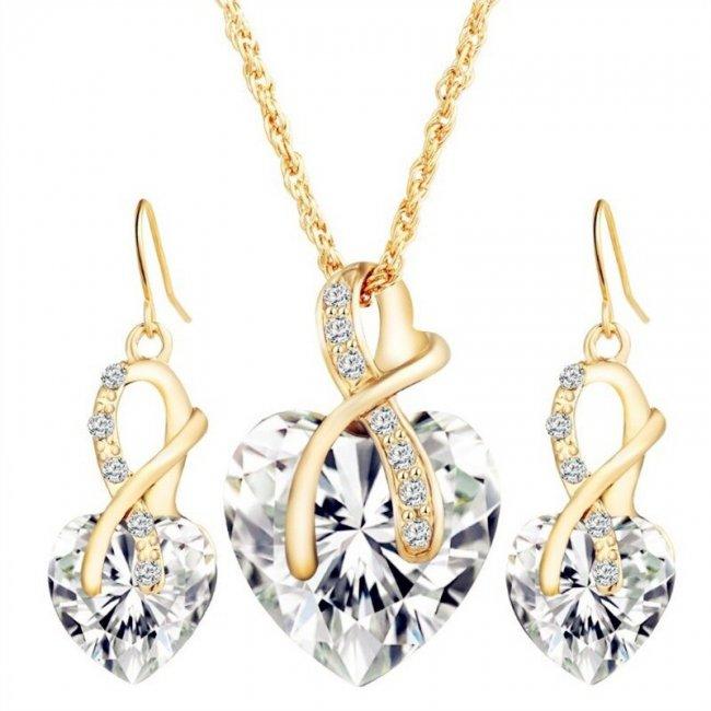 Set fashion Big Heart Crystal