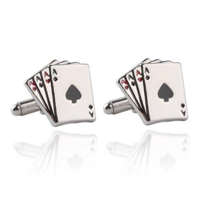 Butoni barbati otel inoxidabil Poker Cards