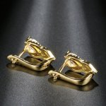 14k gold plated earrings with SW Cystal Heart elements