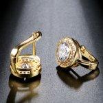 Cercei placati aur 14k cu elemenete SW Cystal rotunzi