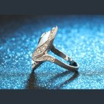 Silver ring with SW luxury Bohemia Big Opal elements