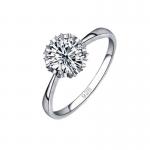 Inel logodna argint cu elemente Swarovsky Flower Crown