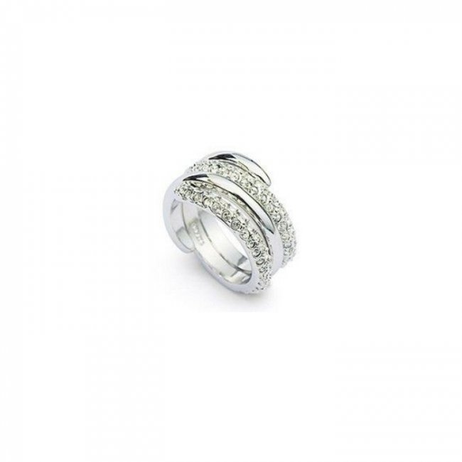 Inel logodna argint cu elemente SW Dublu Crystal