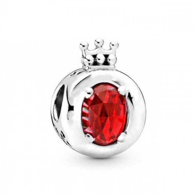 Charm Talisman Argint Crystal Royal Rosu