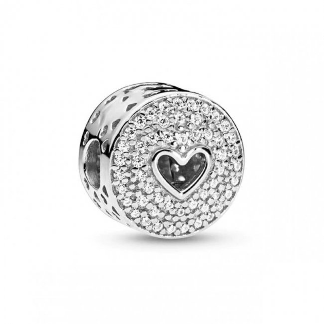 Charm Talisman Argint inima de cristale