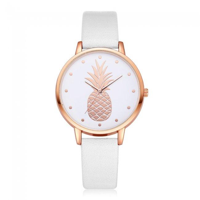 Ceas femei fashion model ananas alb