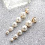 Cercei femei fashion sireag de perle 10 cm