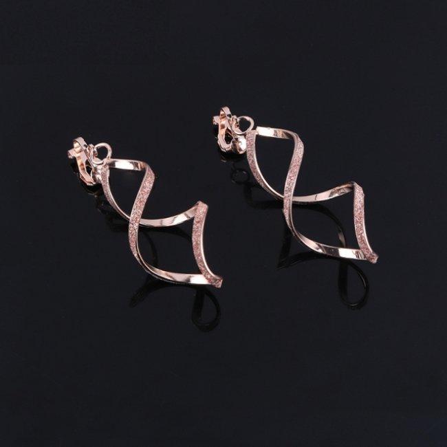 Cercei femei fashion spirala Gold Rose