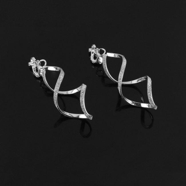 Cercei femei fashion spirala Silver
