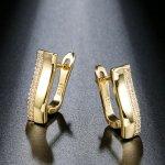 Cercei argint si elemente SW placat cu aur 14K  Destiny
