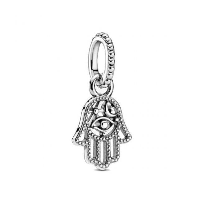 Charm pentru Pandora talisman argint mana Hamsa