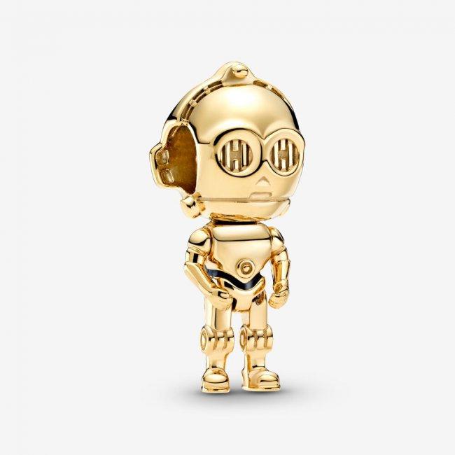 Charm Talisman argint Star Wars robot C3PO