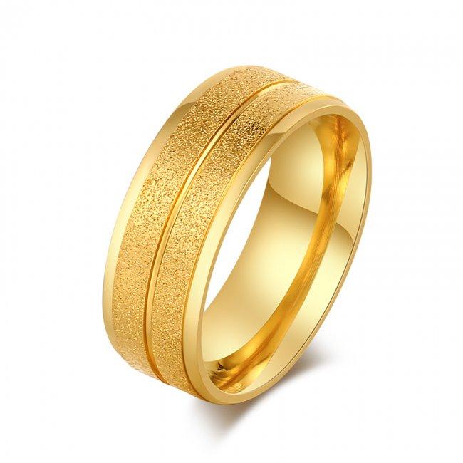 Inel logodna placat cu aur 14k Gold Purity