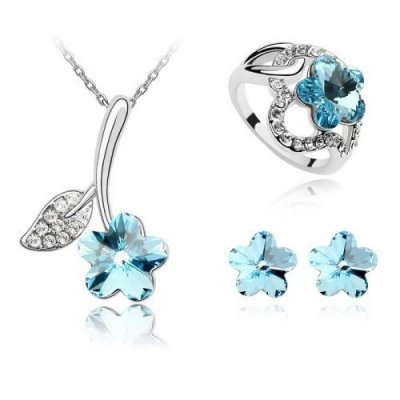 Set Swarovski Blue Spring