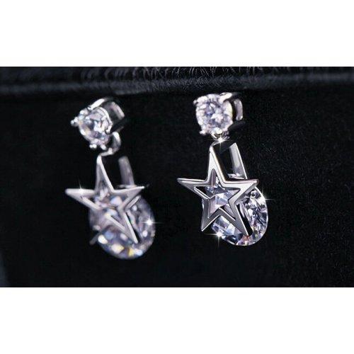 Cercei argint STAR cu elemente swarovski crystal
