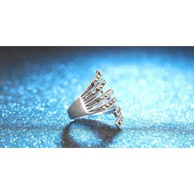 Inel argint cu marcasite Touch