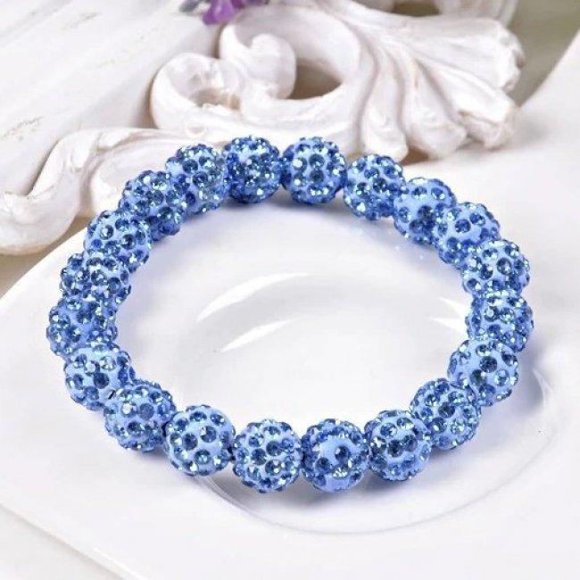 Swarovski Shamballa Blue Bracelet