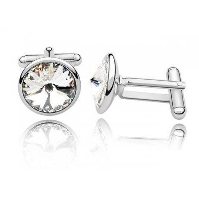 Butoni Argint Elemente  Swarovski Cristal