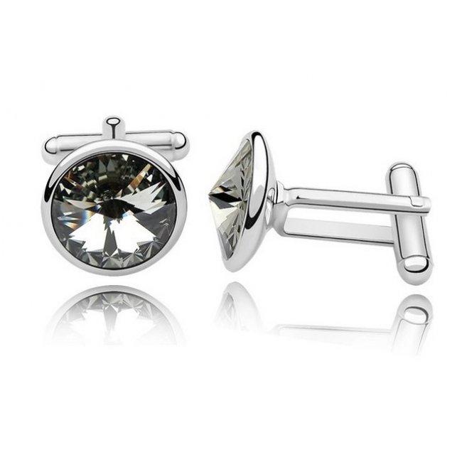 Silver Swarovski Elements Buttons