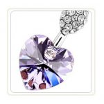 PurpleS Heart Swarovski Elements Set