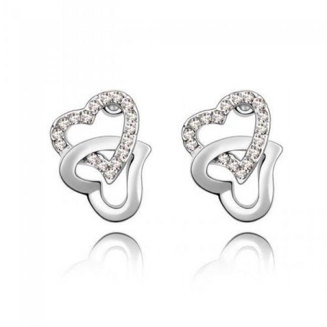 Earrings Swarovski Elements Heart