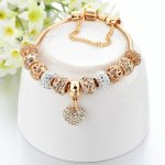 Bratara charm tip Pandora Gold Excelsior Inima