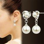 Cercei argint femei cu perle 2S