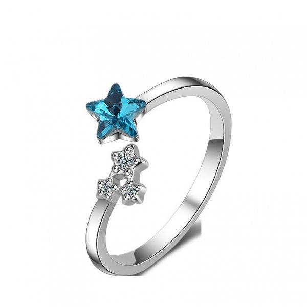 Inel argint regalbil cu Cristale Swarovski Moonstar albastru