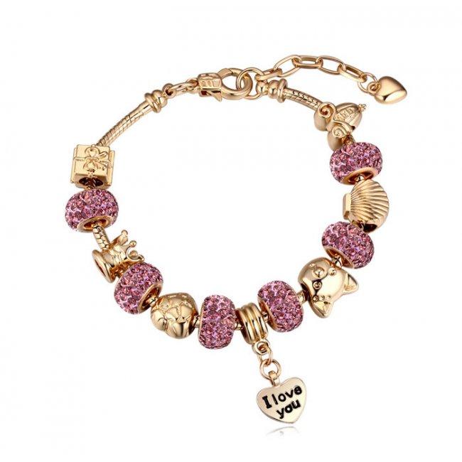 cel mai mic pret 100% de înaltă calitate cele mai bune preturi Bratara Charm Pandora Pink Kelan Love-kelan.ro
