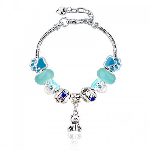 Bratara Pandora Charm Blue TeddyBear