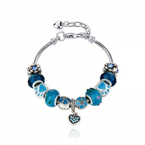 Bratara Pandora Charm Blue Heart